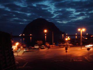 Morro Rock at Nght